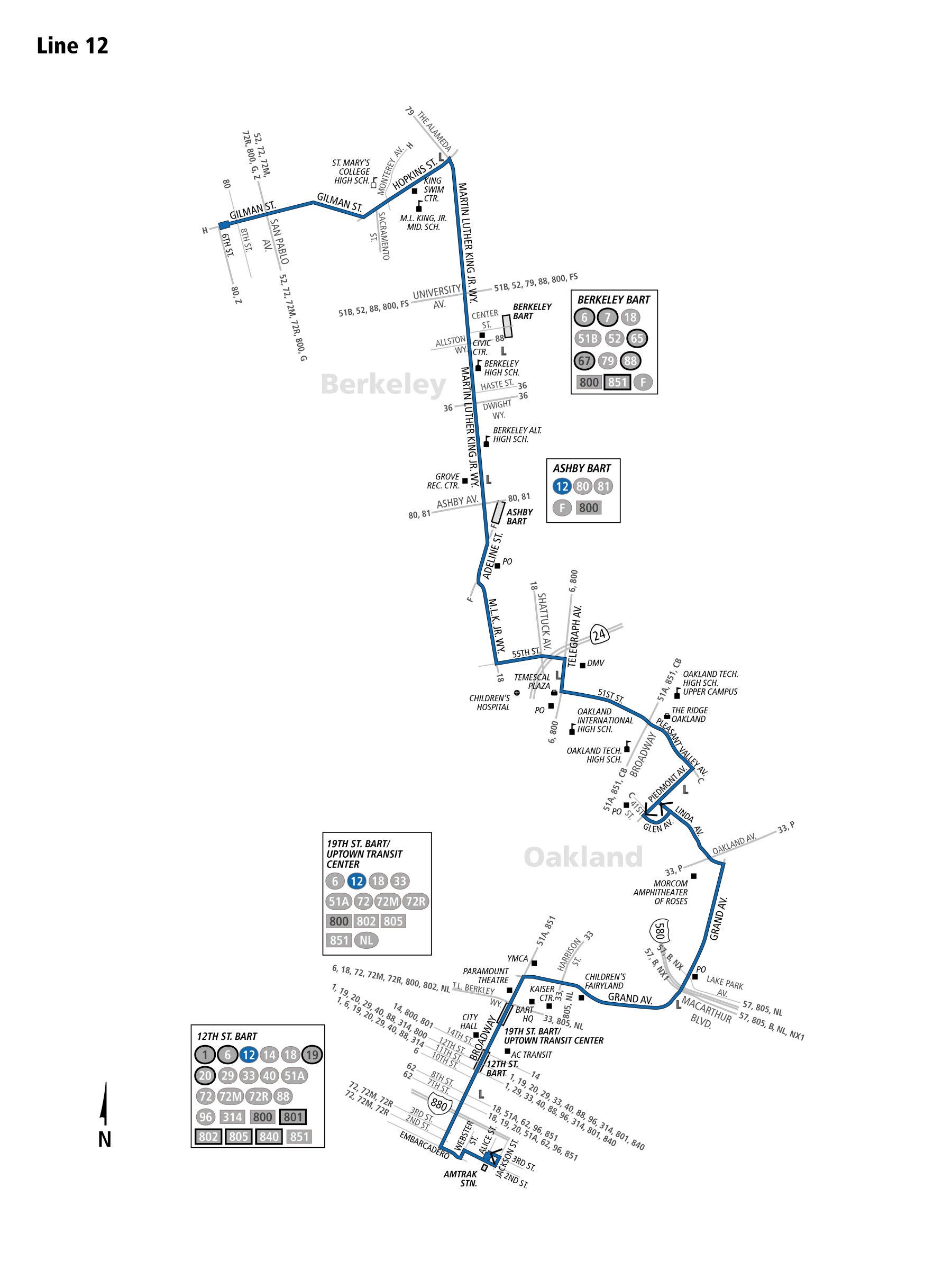 12 bus schedule - ac transit - sf bay transit