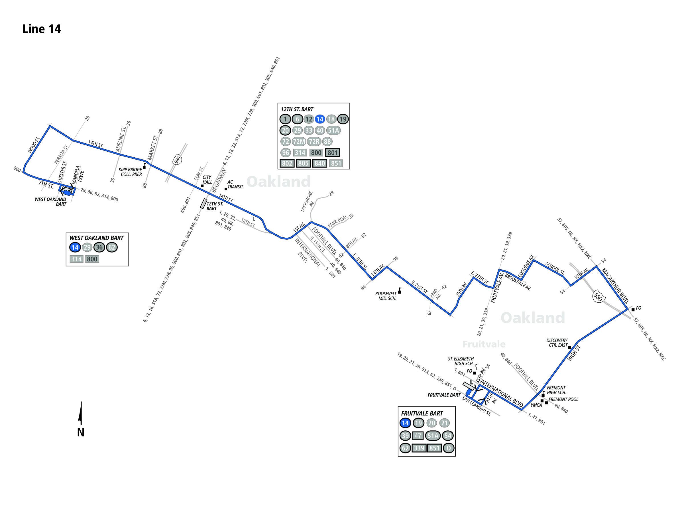 14 bus schedule - ac transit - sf bay transit