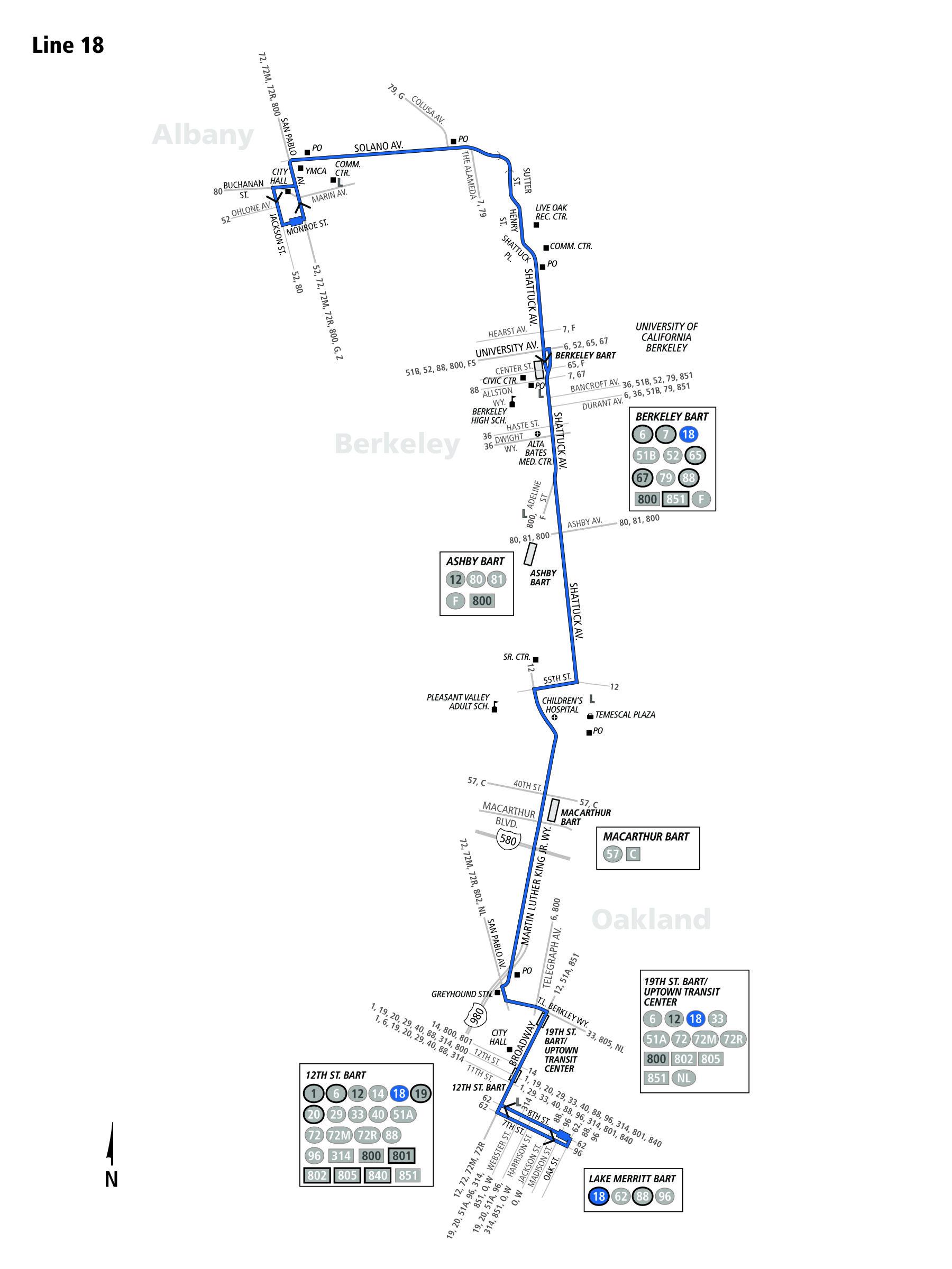18 Bus Schedule Ac Transit Sf Bay Transit