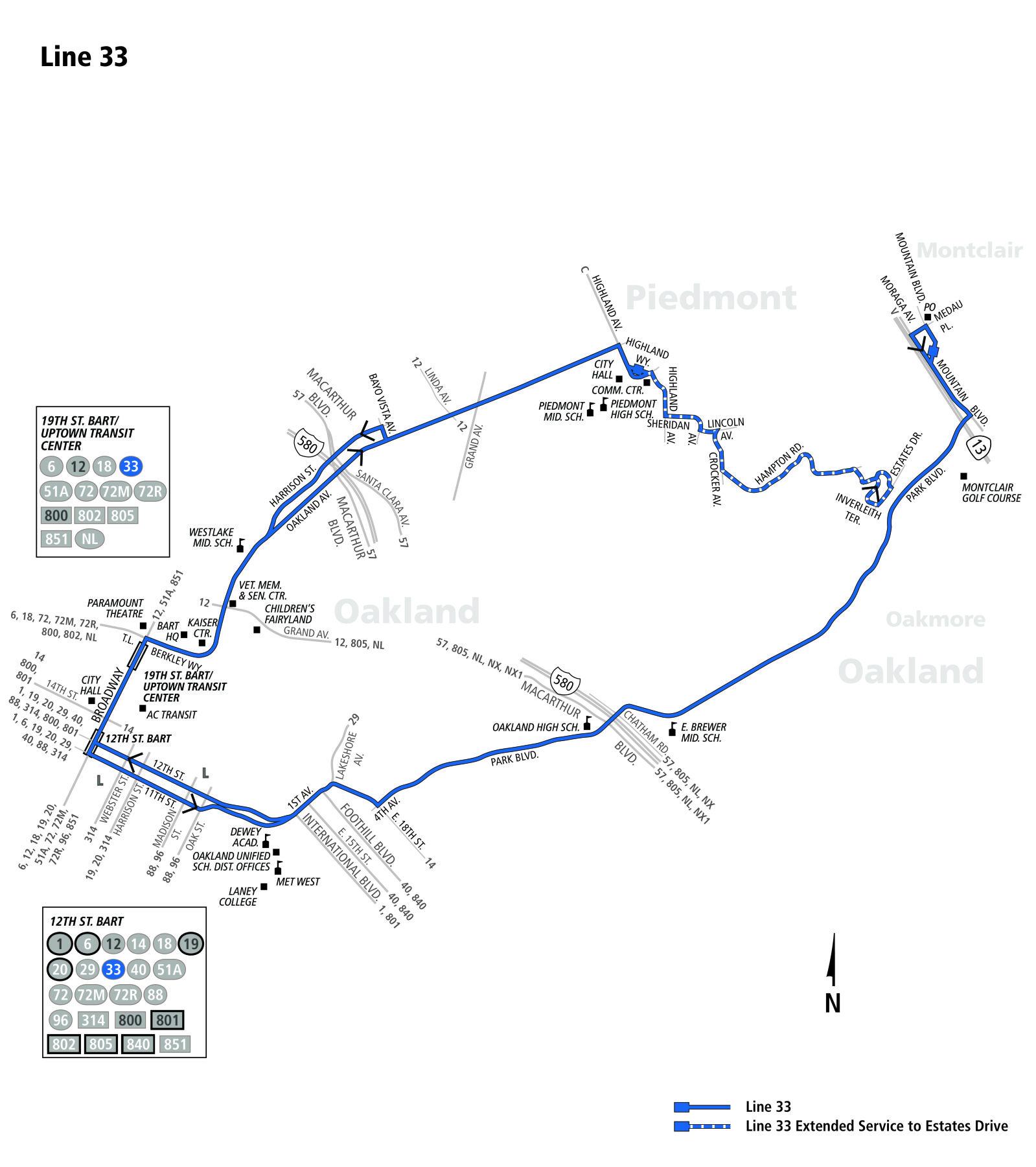 33 bus route - ac transit - sf bay transit