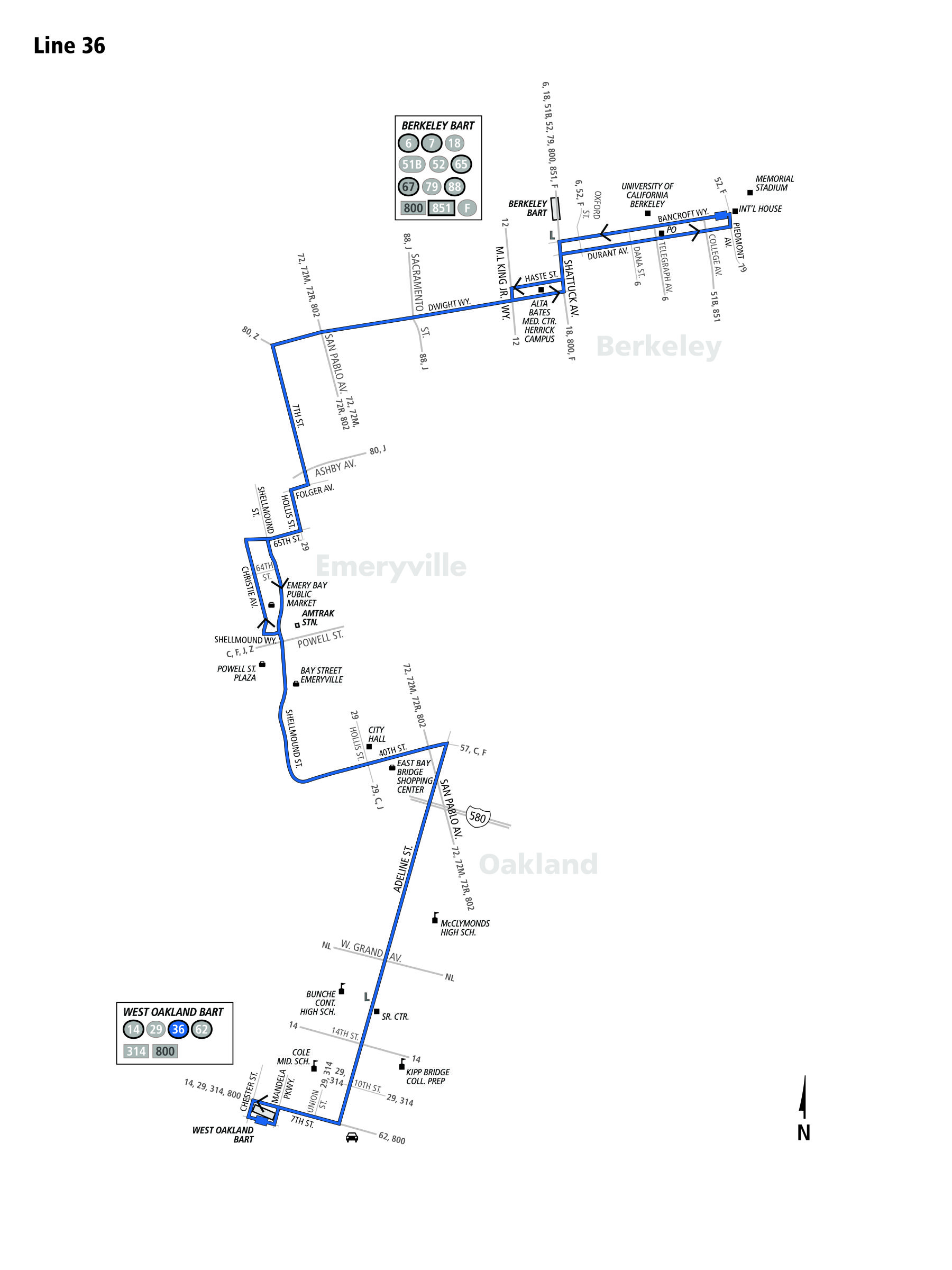 route_36  Berkerley Bus Route Ac Transit Map on