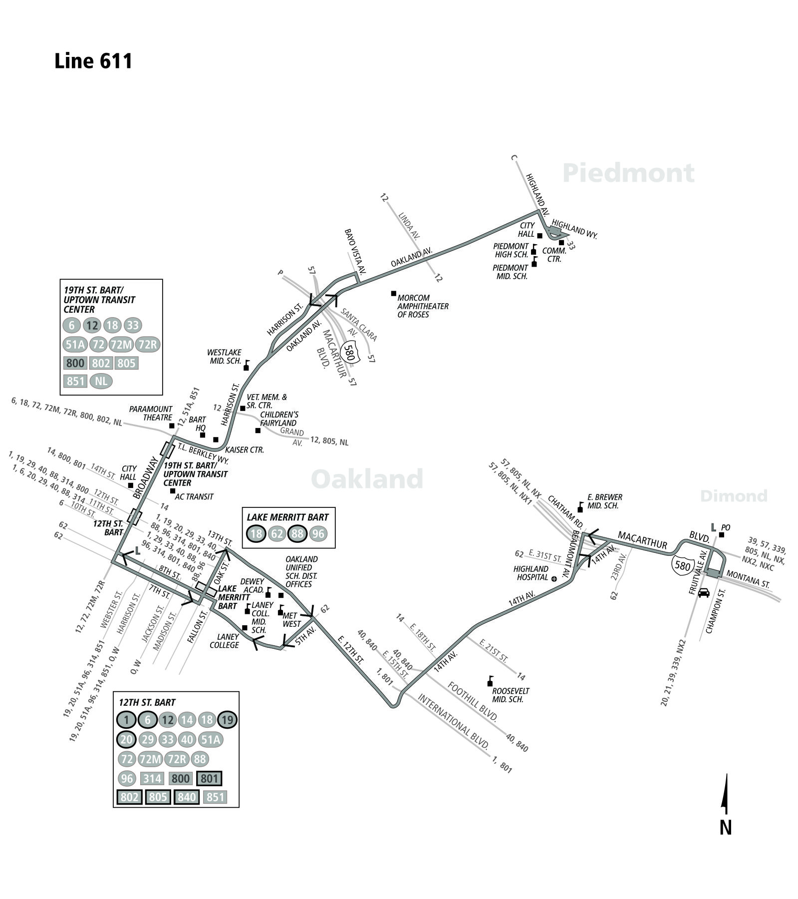 611 bus route - ac transit - sf bay transit
