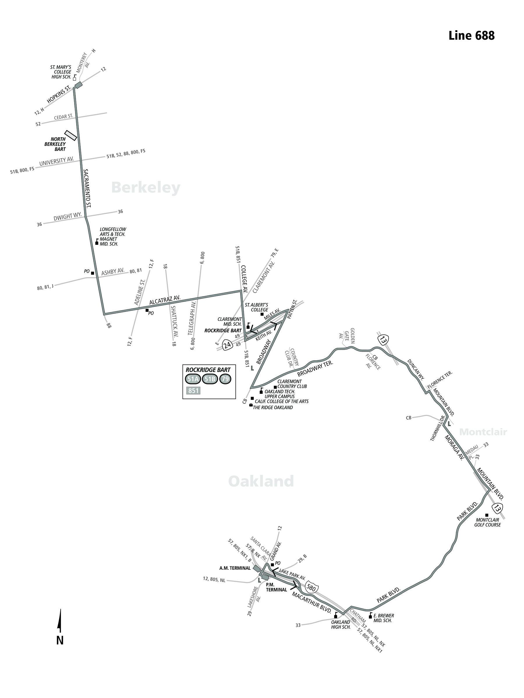 688 Bus Route Ac Transit Sf Bay Transit