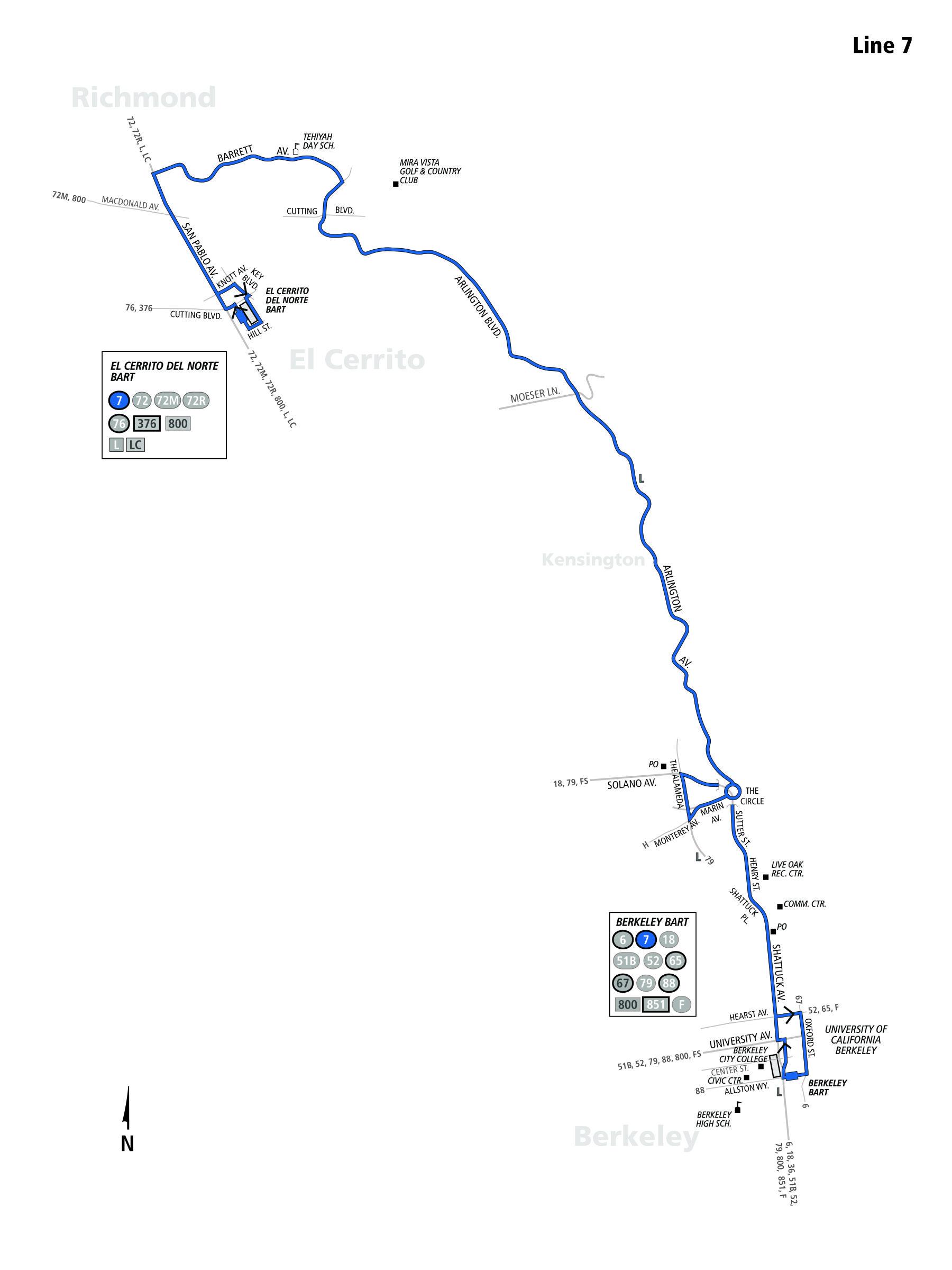 7 Bus Route Ac Transit Sf Bay Transit