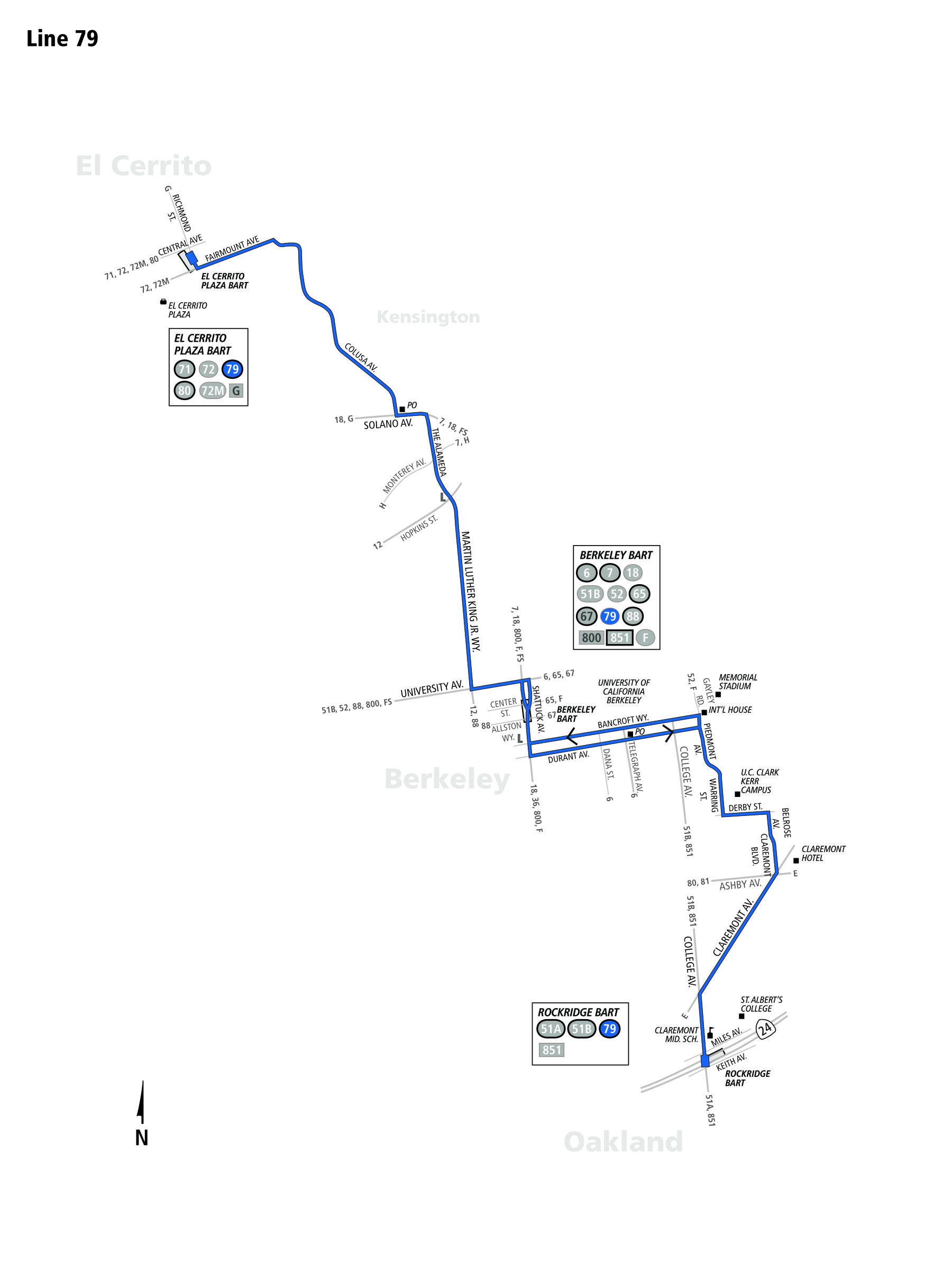 route_79  Berkerley Bus Route Ac Transit Map on