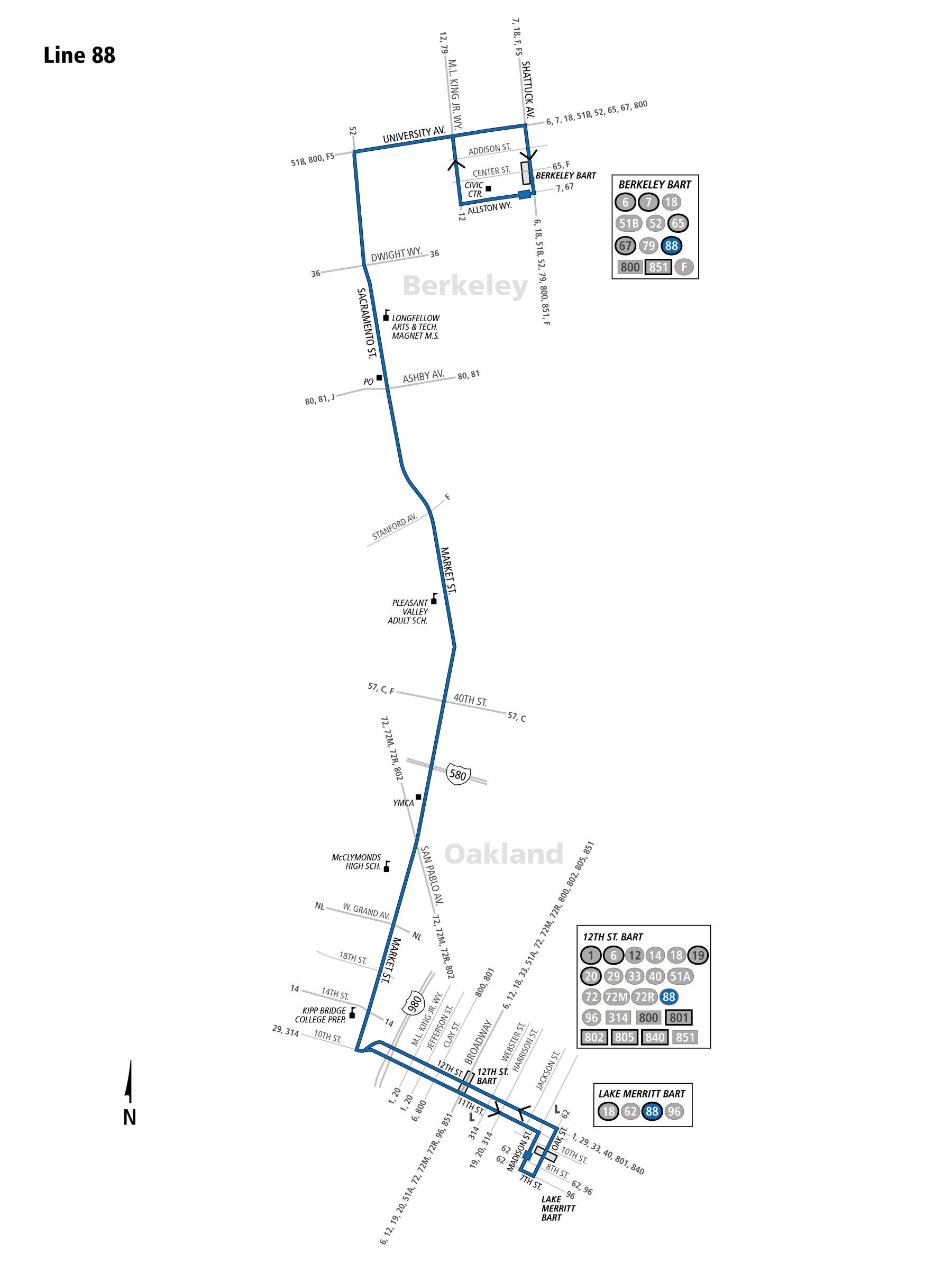 88 Bus Route Ac Transit Sf Bay Transit