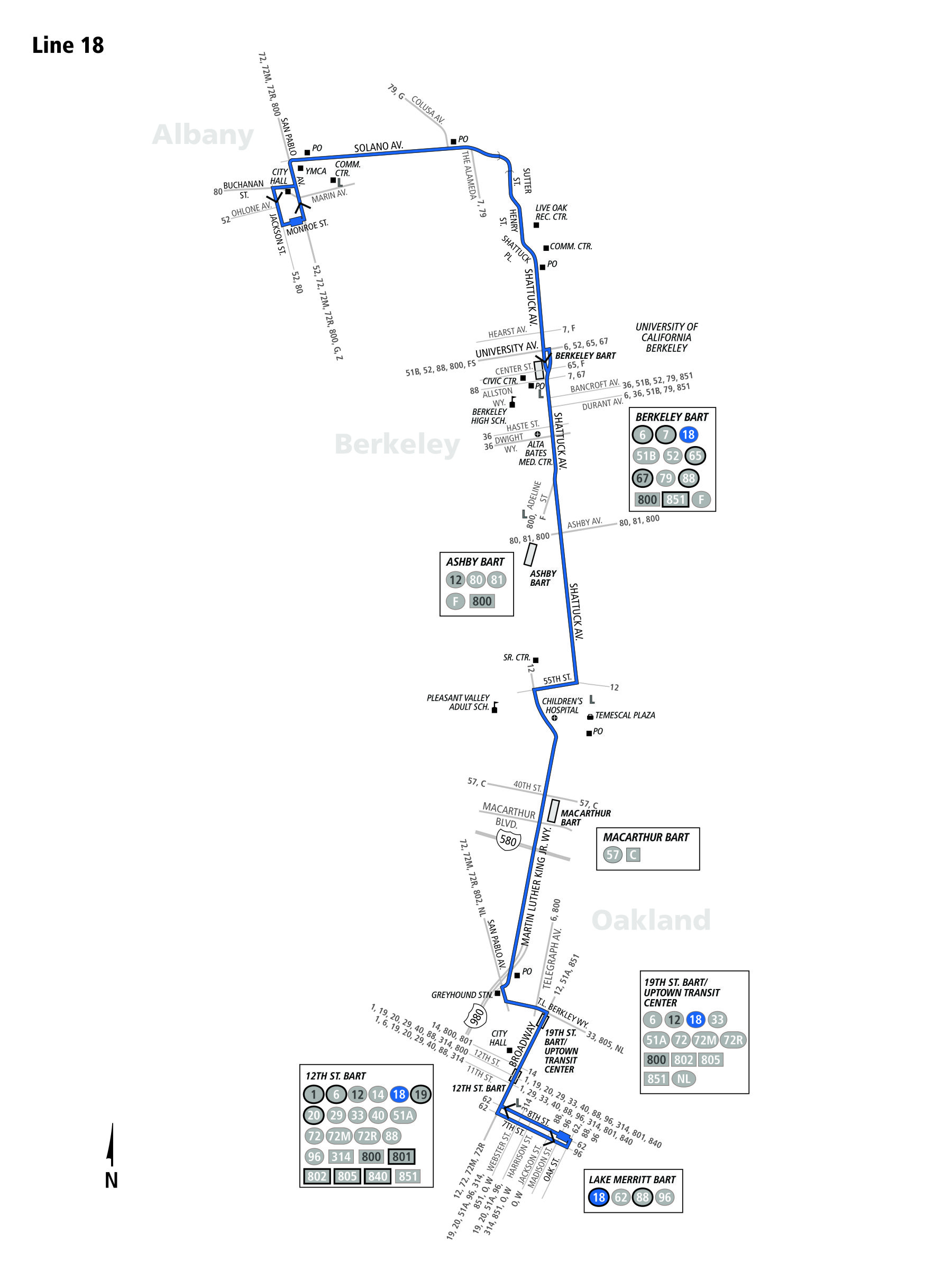 route_18  Berkerley Bus Route Ac Transit Map on