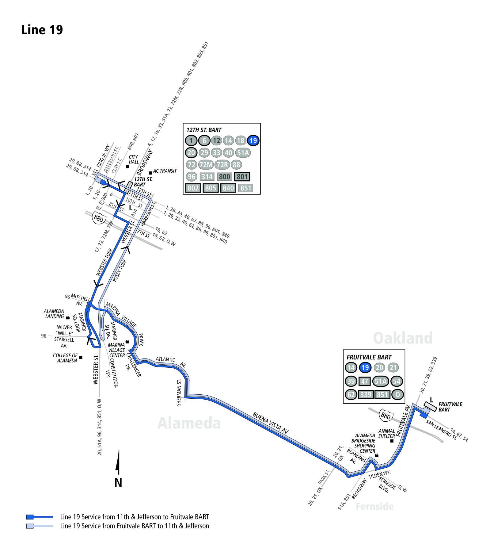 19 Bus Schedule Ac Transit Sf Bay Transit
