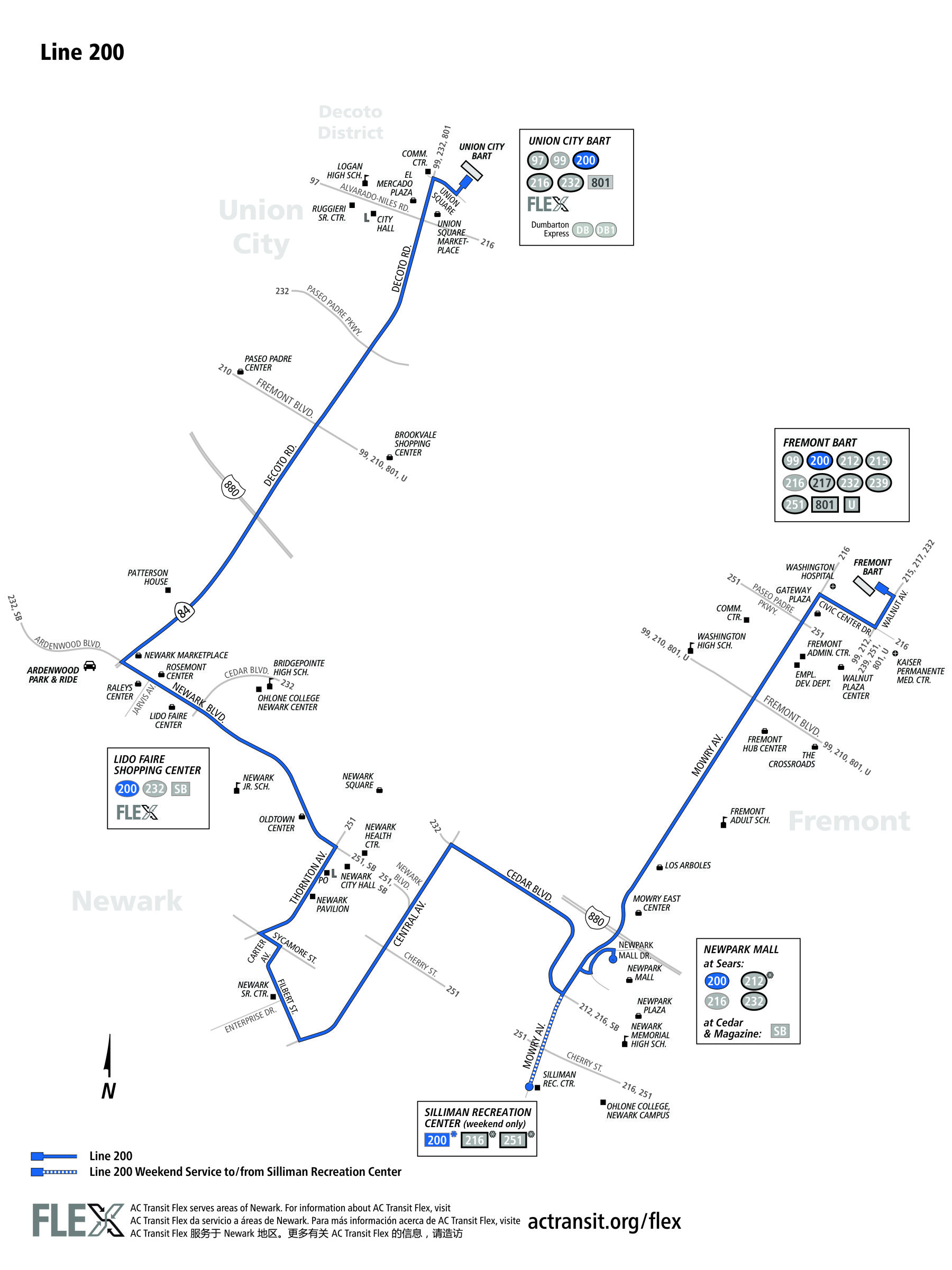 200 Bus Route Ac Transit Sf Bay Transit