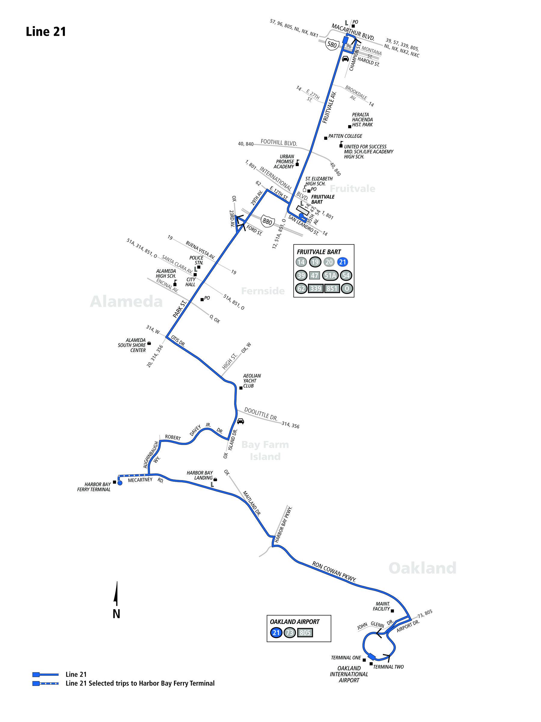 21 Bus Route Ac Transit Sf Bay Transit