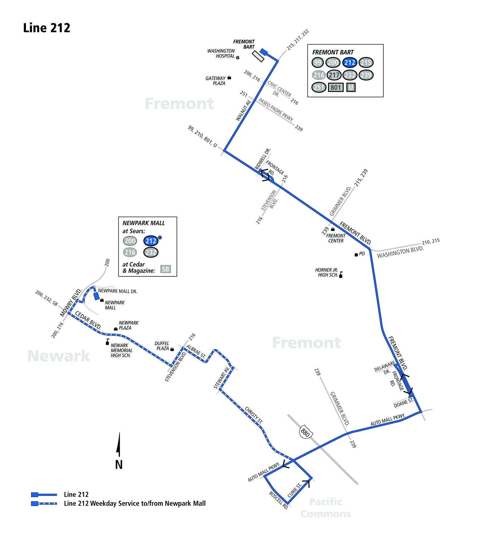212 Bus Schedule Ac Transit Sf Bay Transit