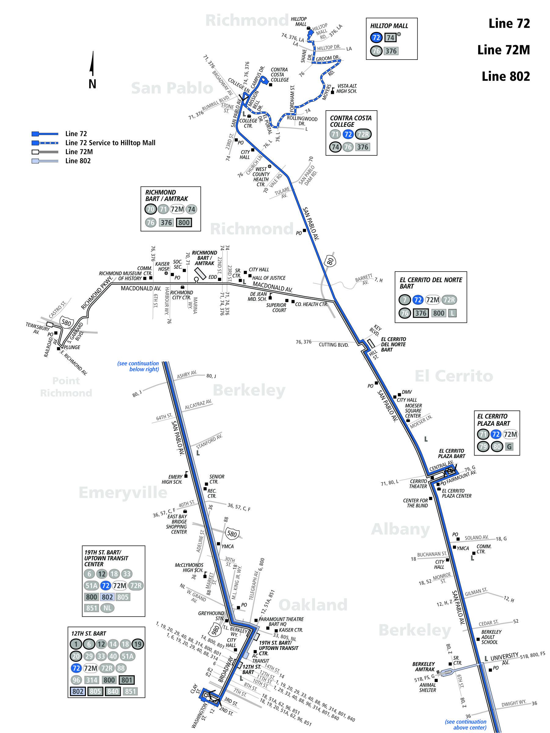 72 Bus Schedule Ac Transit Sf Bay Transit