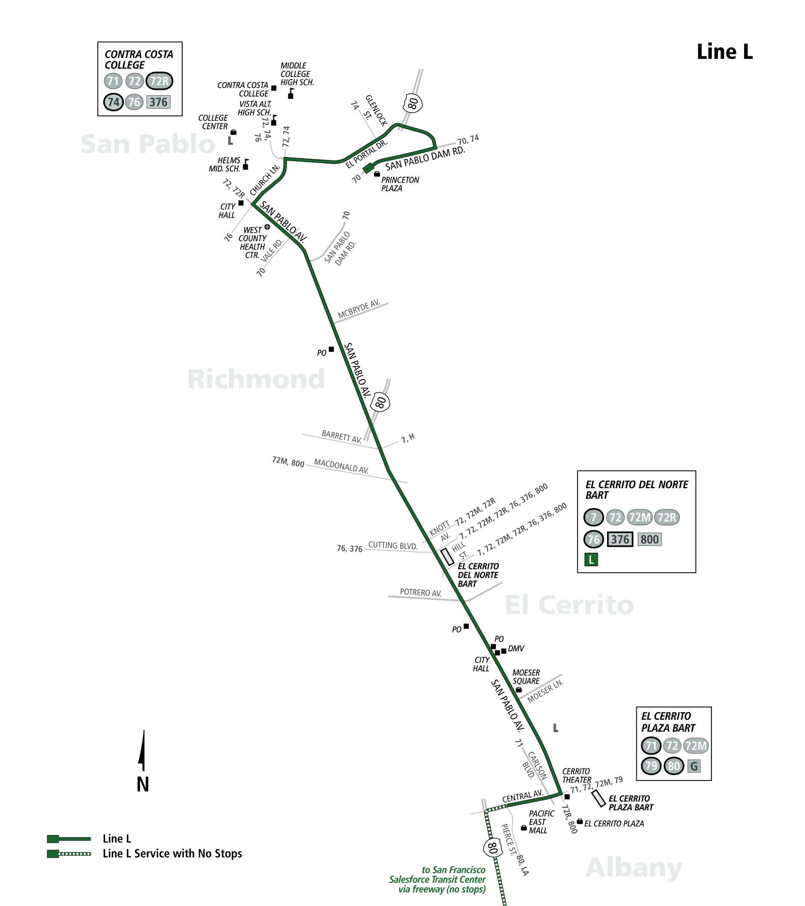 L Bus Route Ac Transit Sf Bay Transit