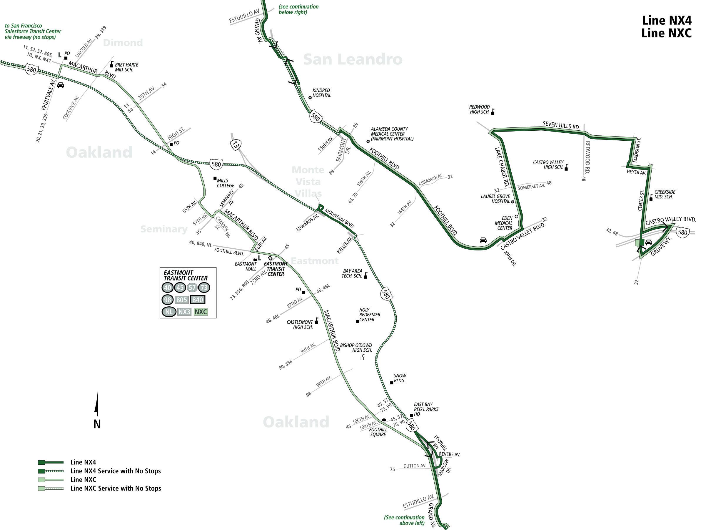 Nxc Bus Schedule Ac Transit Sf Bay Transit