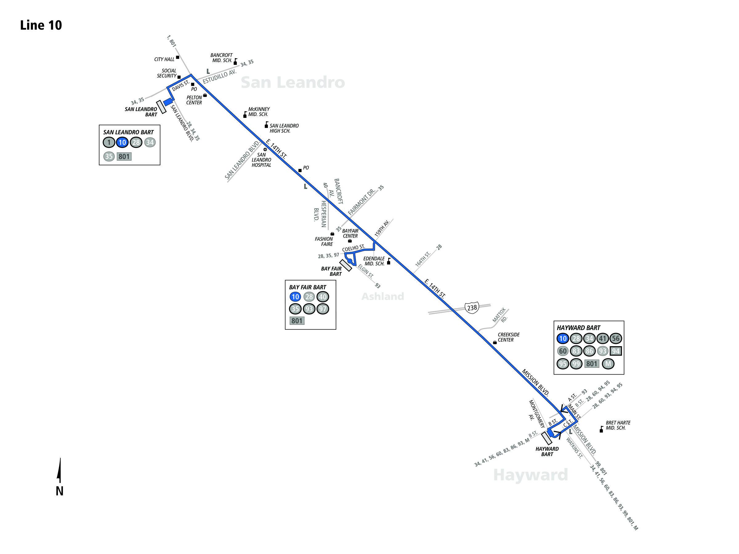 10 Bus Schedule - AC Transit - SF Bay Transit