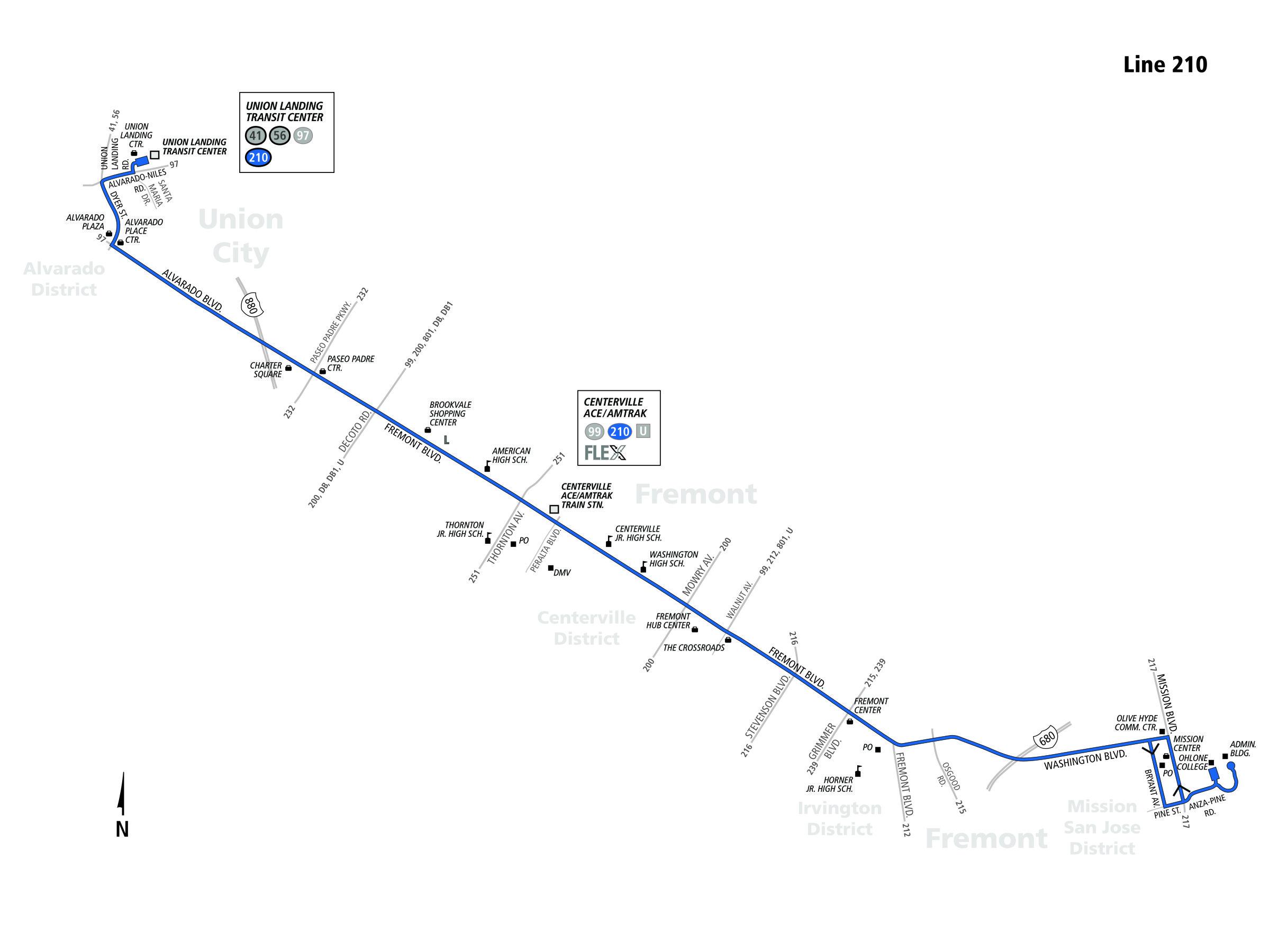 210 Bus Schedule Ac Transit Sf Bay Transit