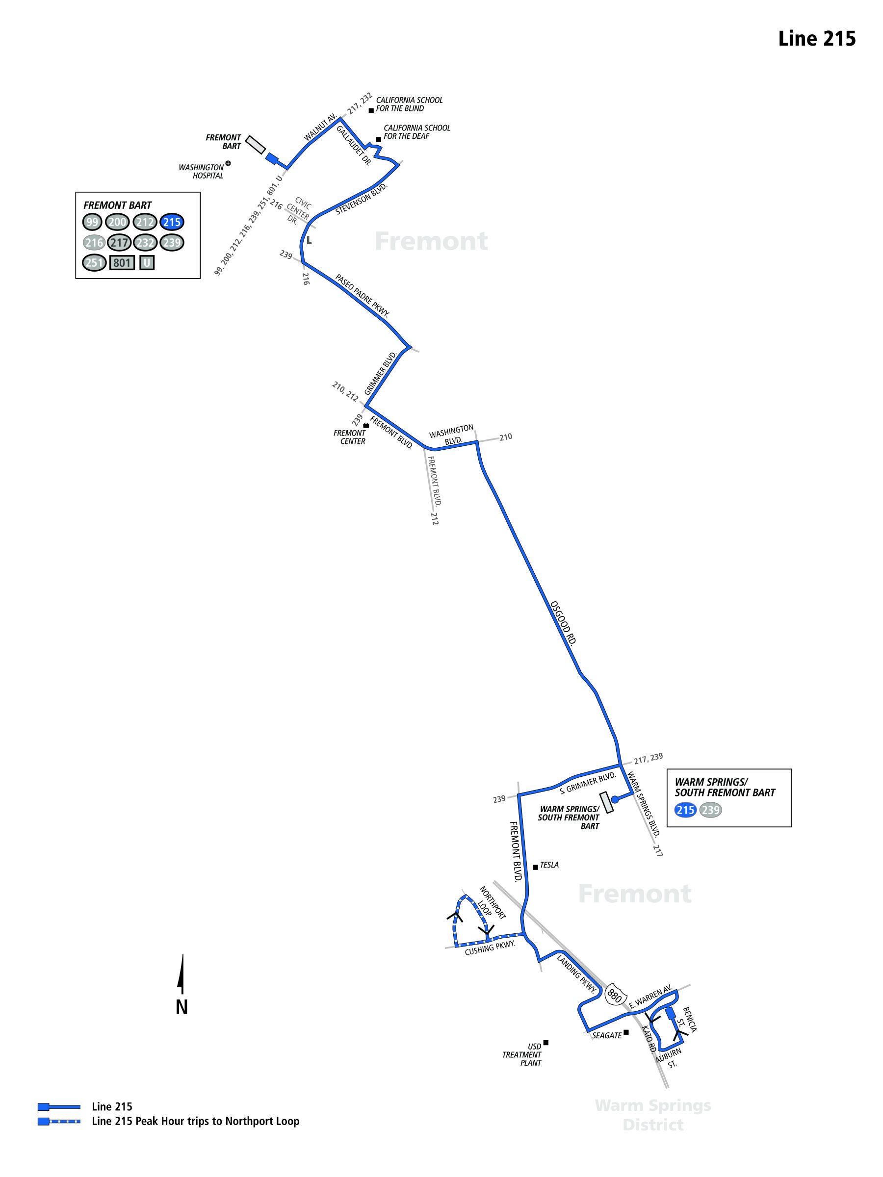 215 Bus Schedule - AC Transit - SF Bay Transit