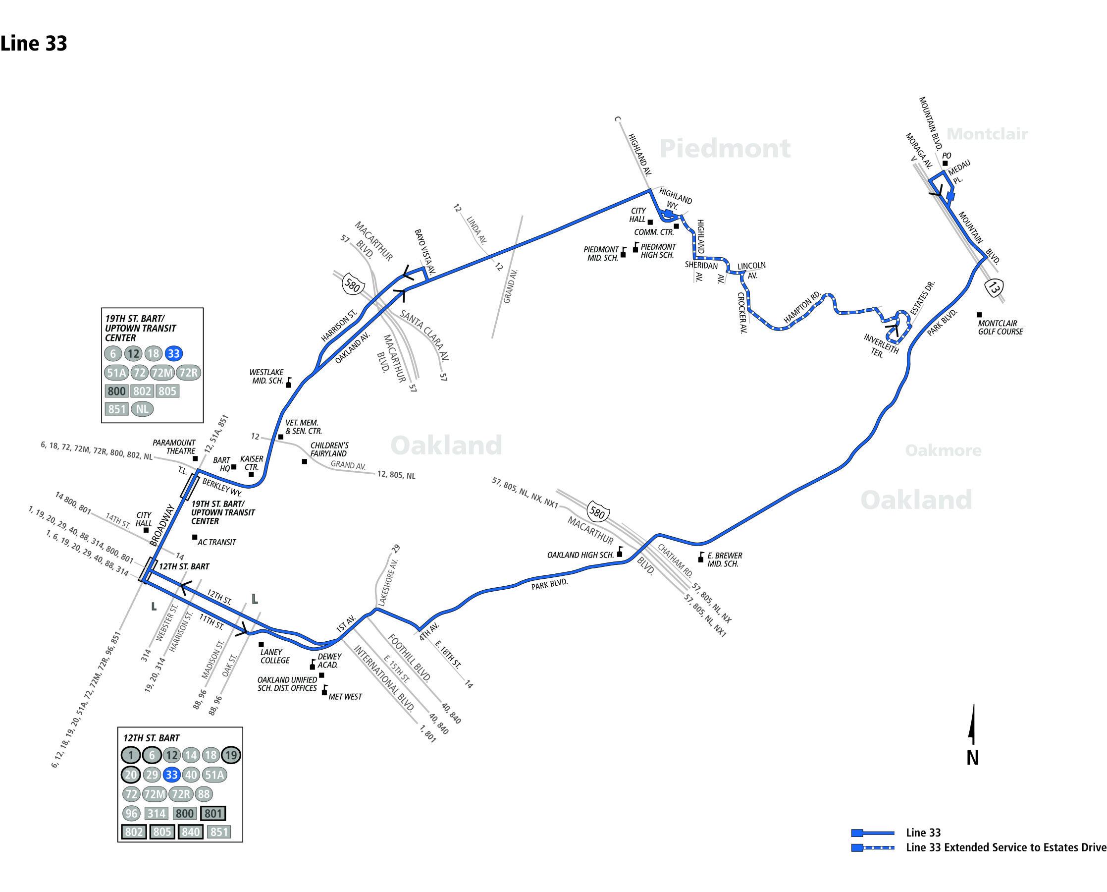 33 Bus Schedule Ac Transit Sf Bay Transit