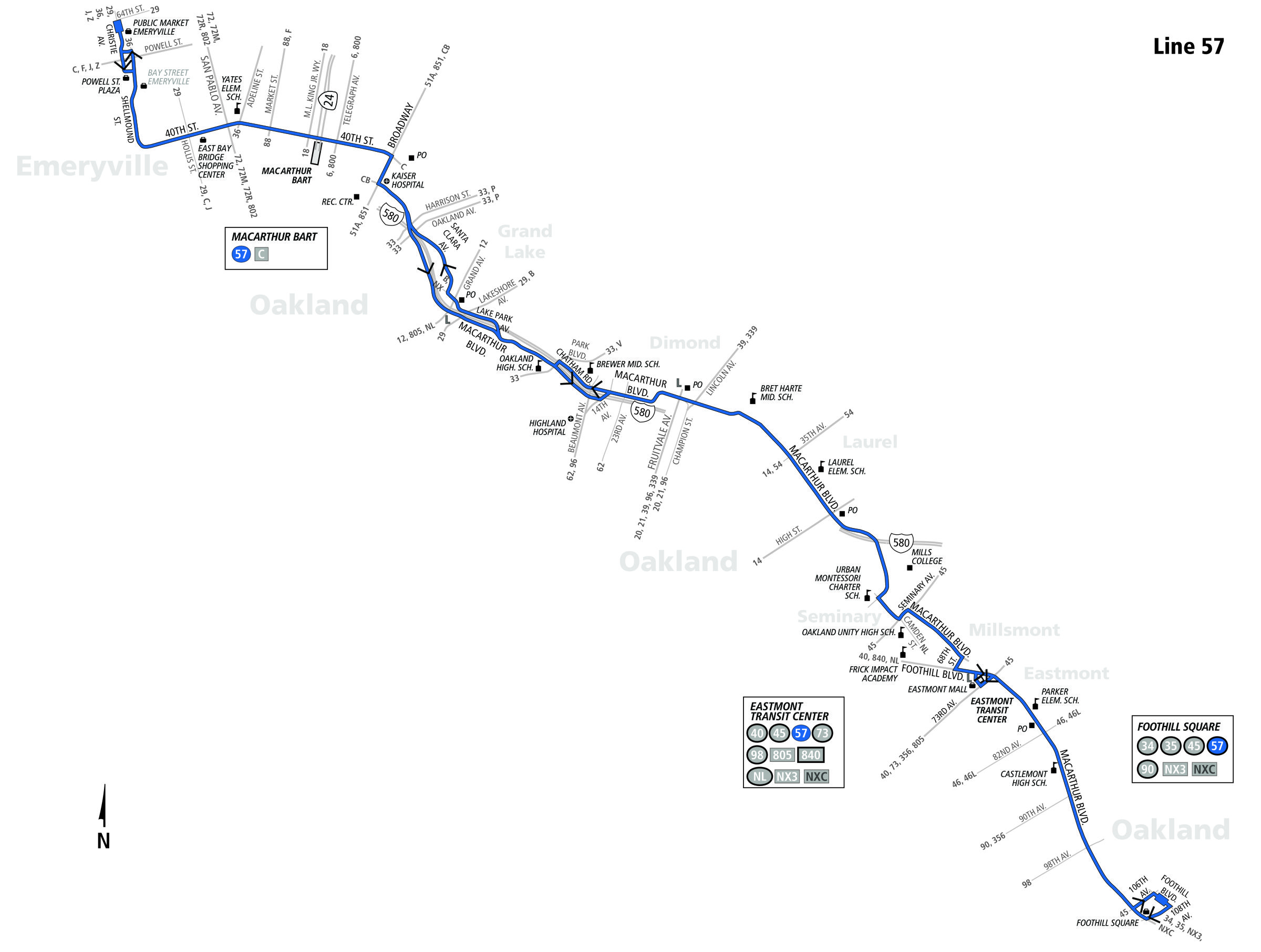 Image result for the 57 bus route