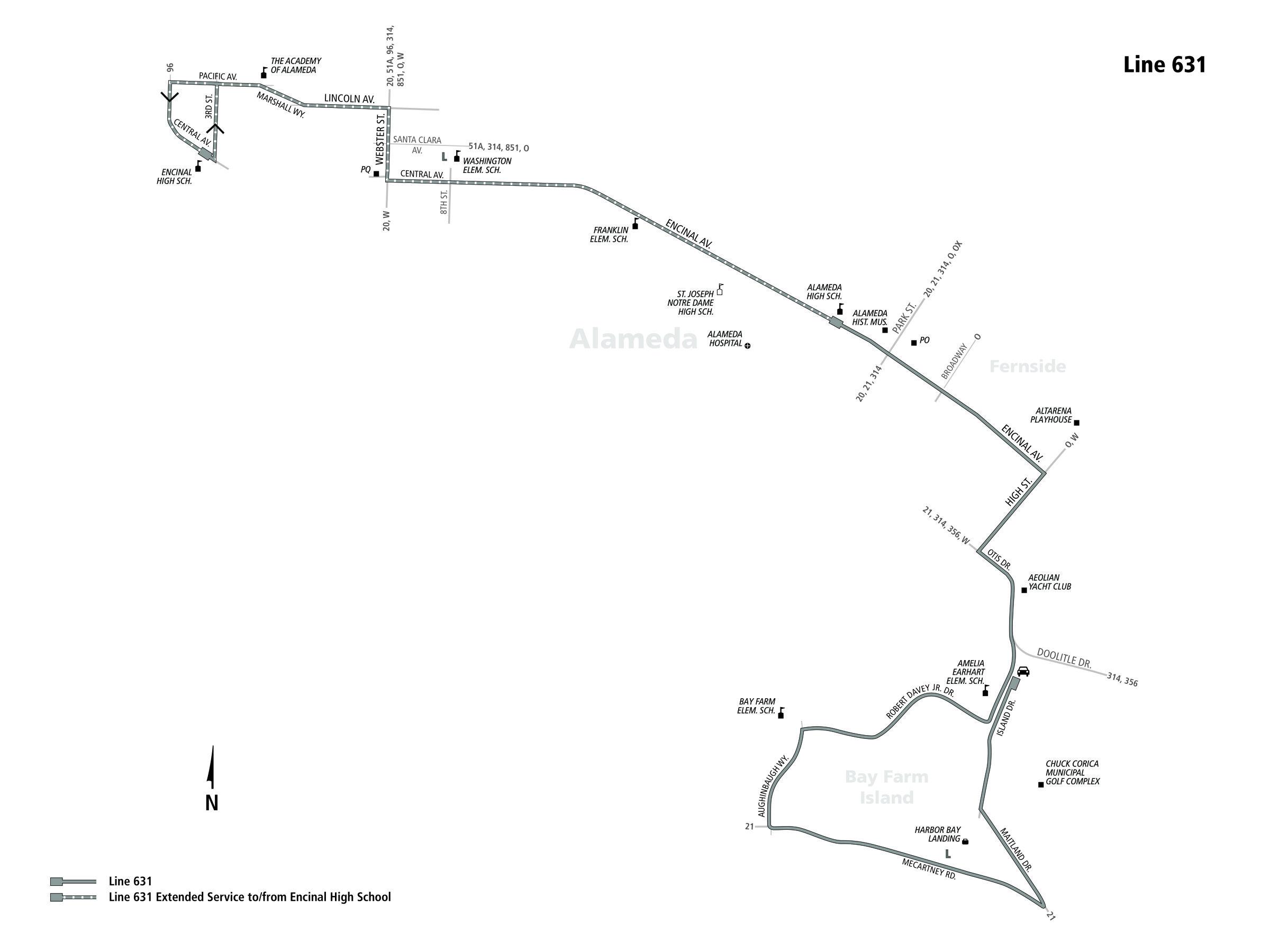 631 Bus Route Ac Transit Sf Bay Transit