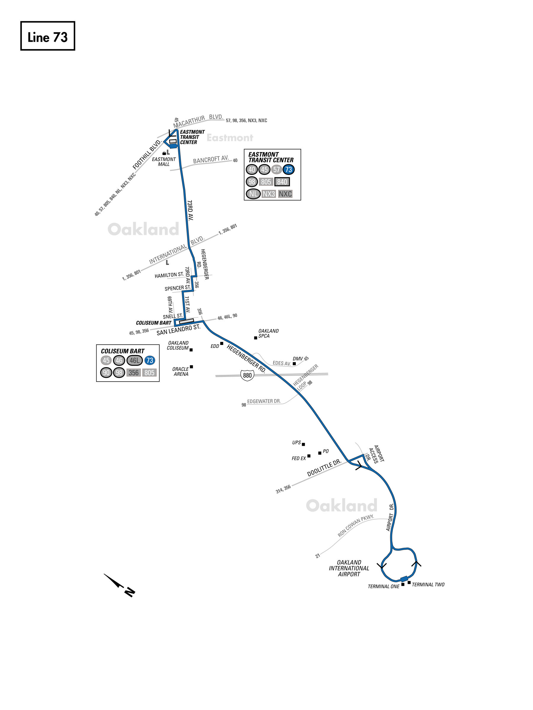73 Bus Route Ac Transit Sf Bay Transit