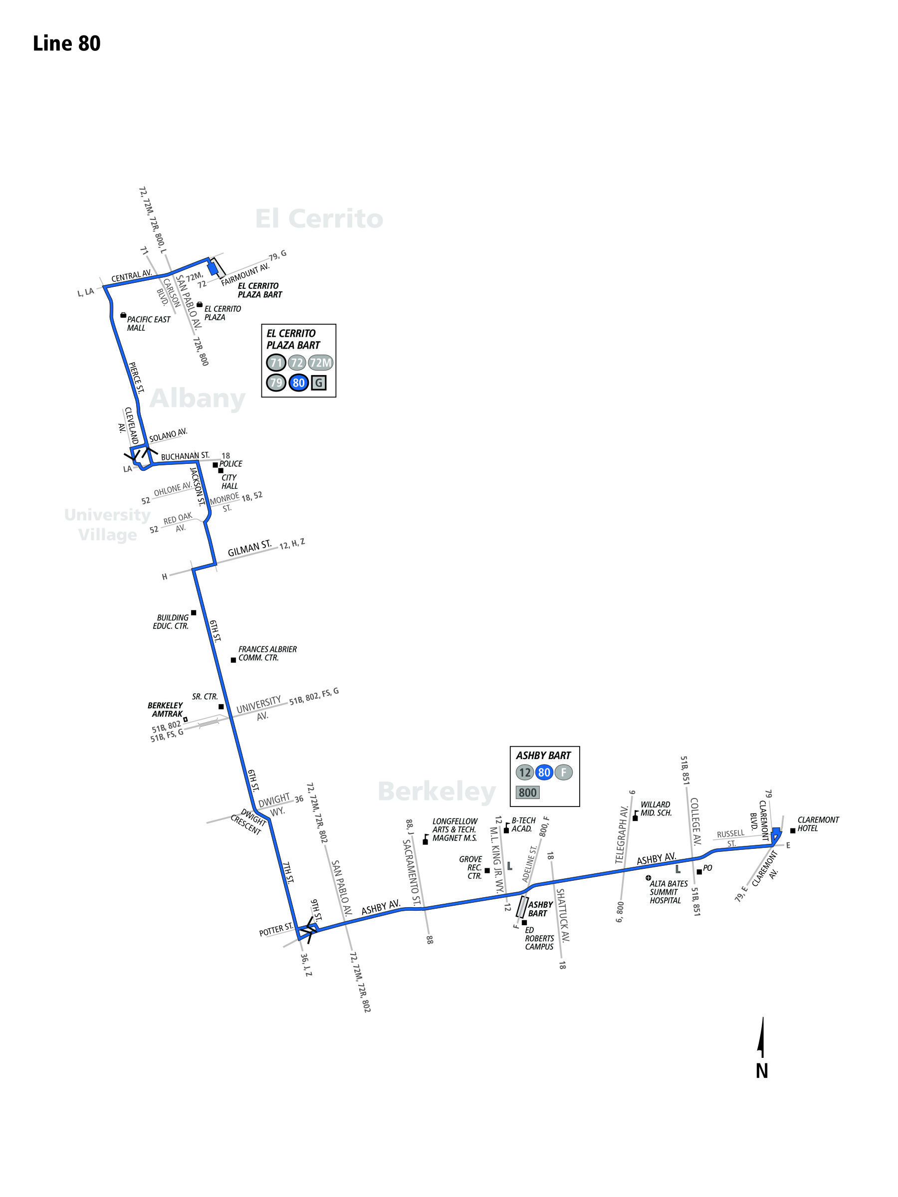 80 Bus Route - AC Transit - SF Bay Transit