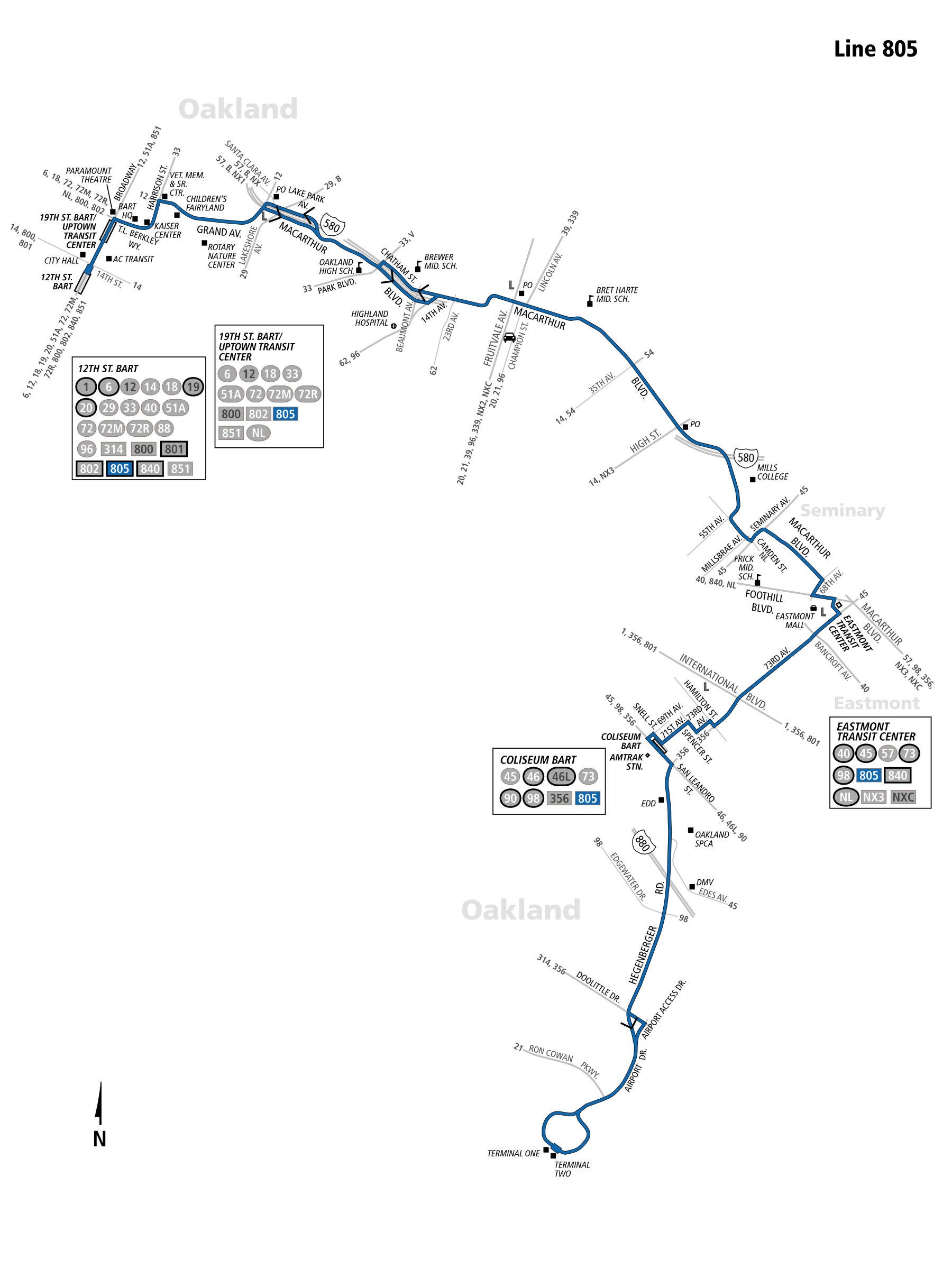 805 Bus Schedule Ac Transit Sf Bay Transit