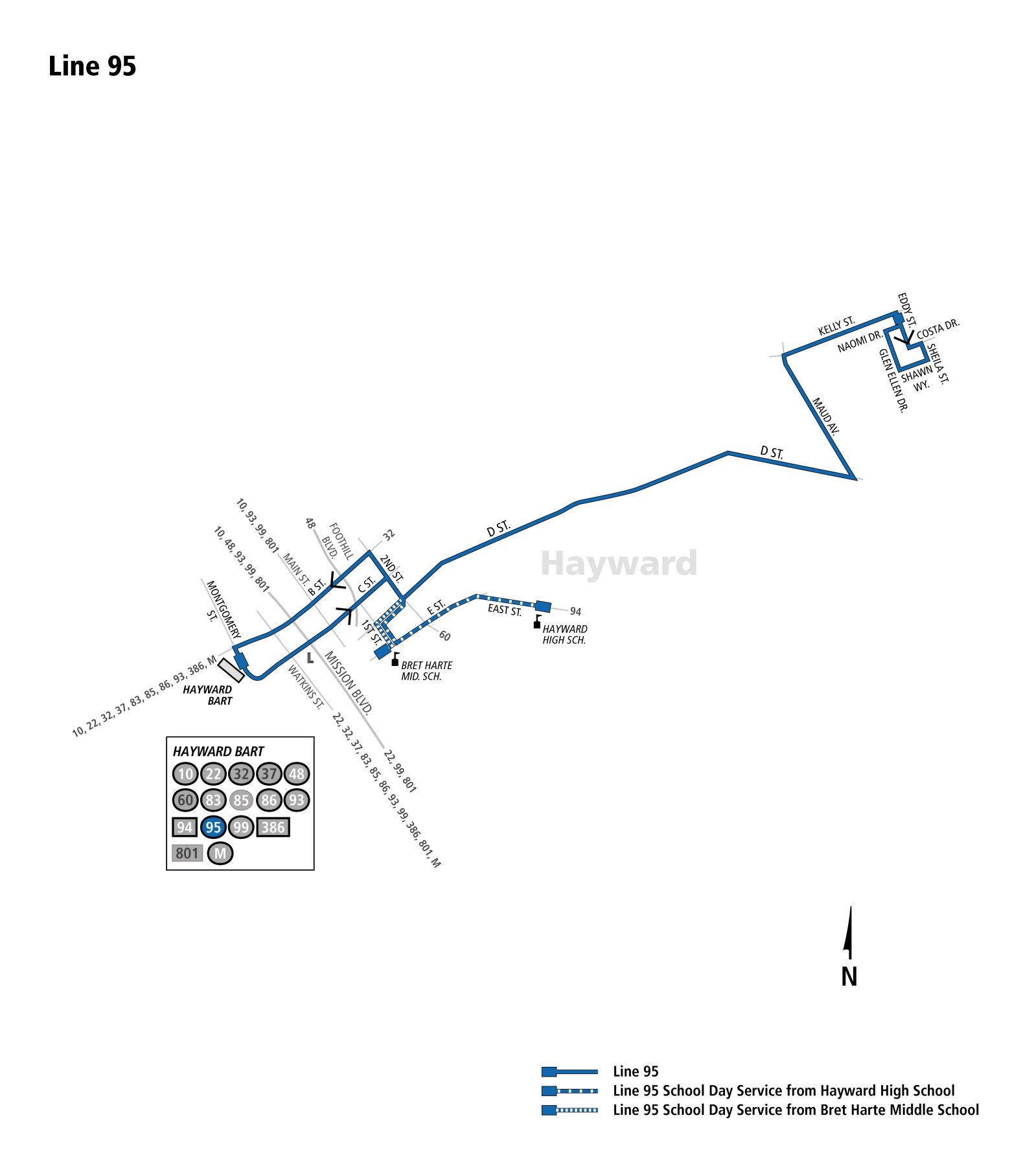 95 Bus Schedule - AC Transit - SF Bay Transit