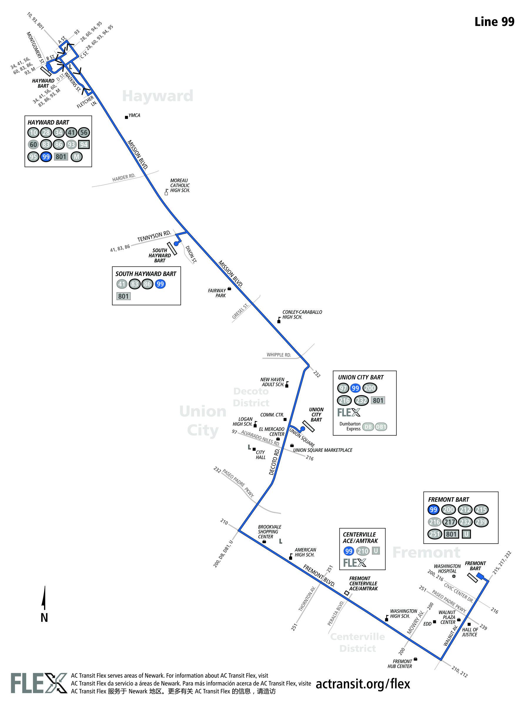 99 Bus Route Ac Transit Sf Bay Transit