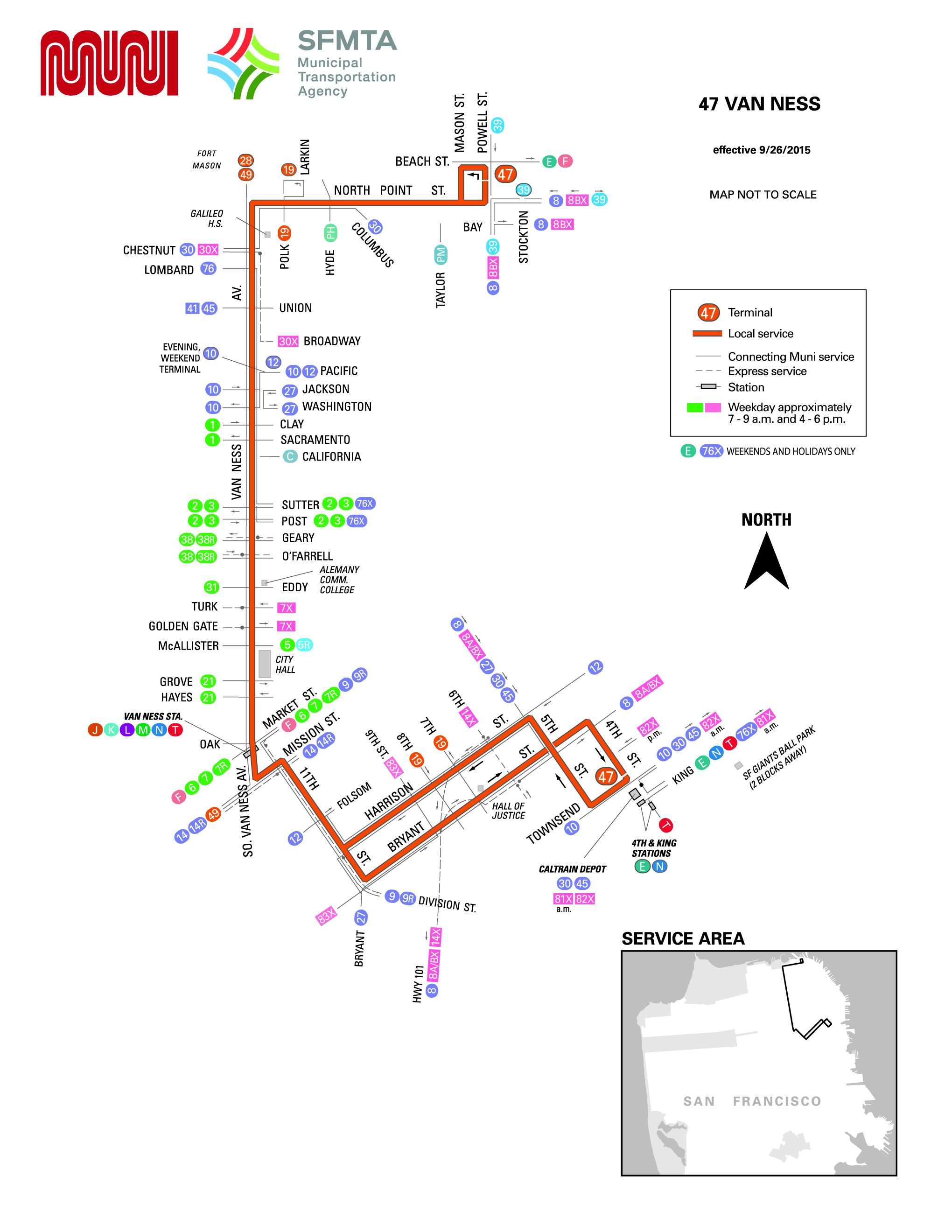 47 Van Ness Bus Route Sf Muni Sf Bay Transit