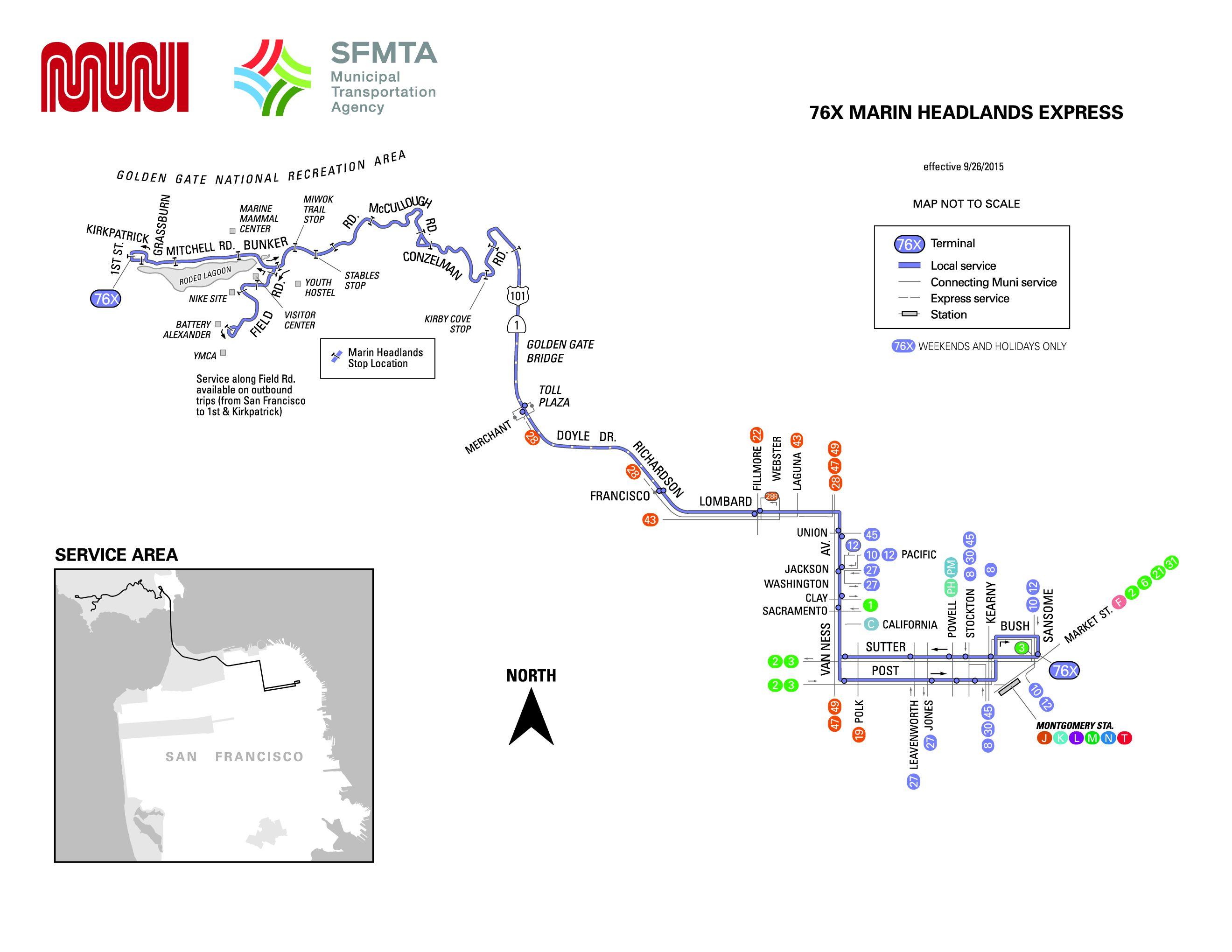 76x Marin Headlands Express Bus Route Sf Muni Sf Bay