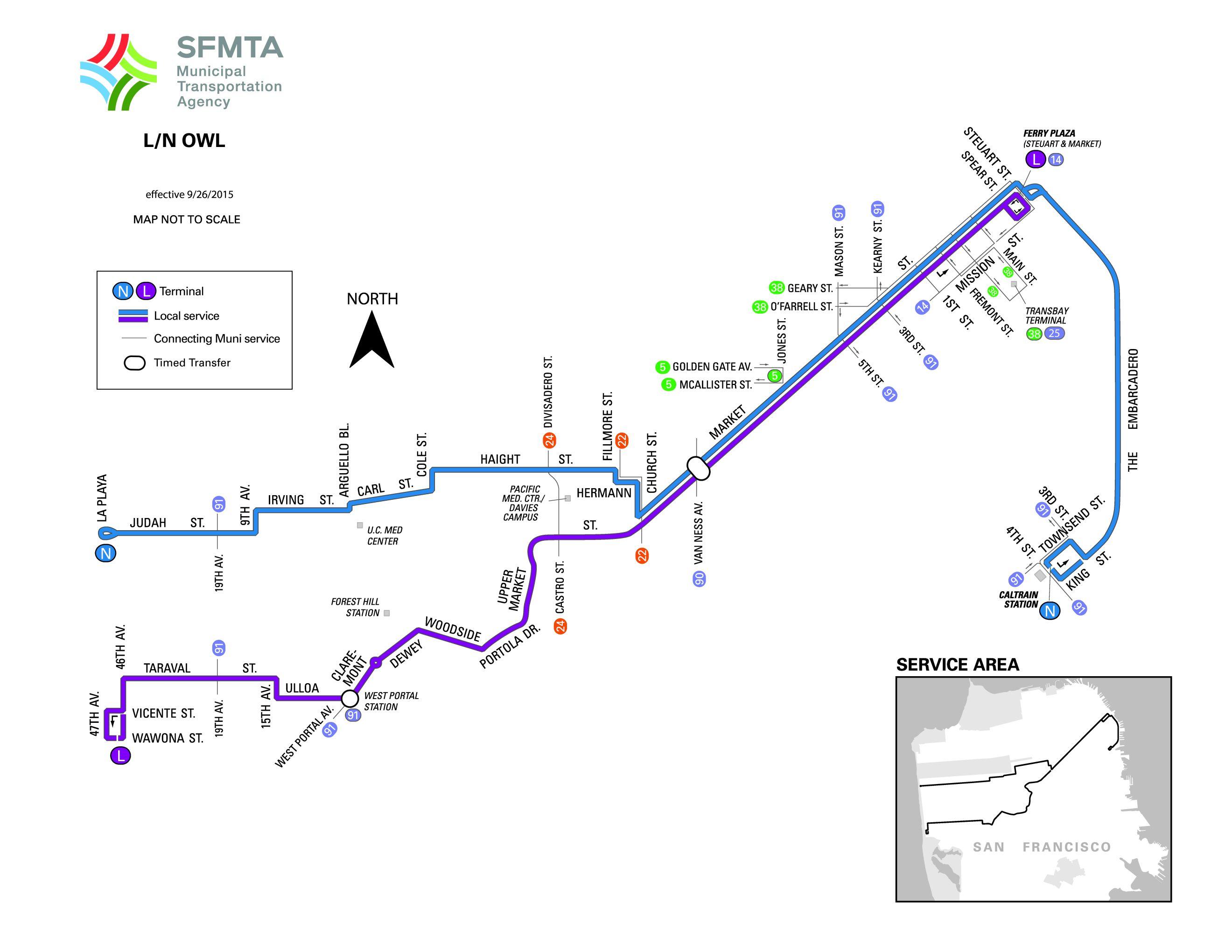 LOWLTaraval Bus Schedule SF MUNI SF Bay Transit