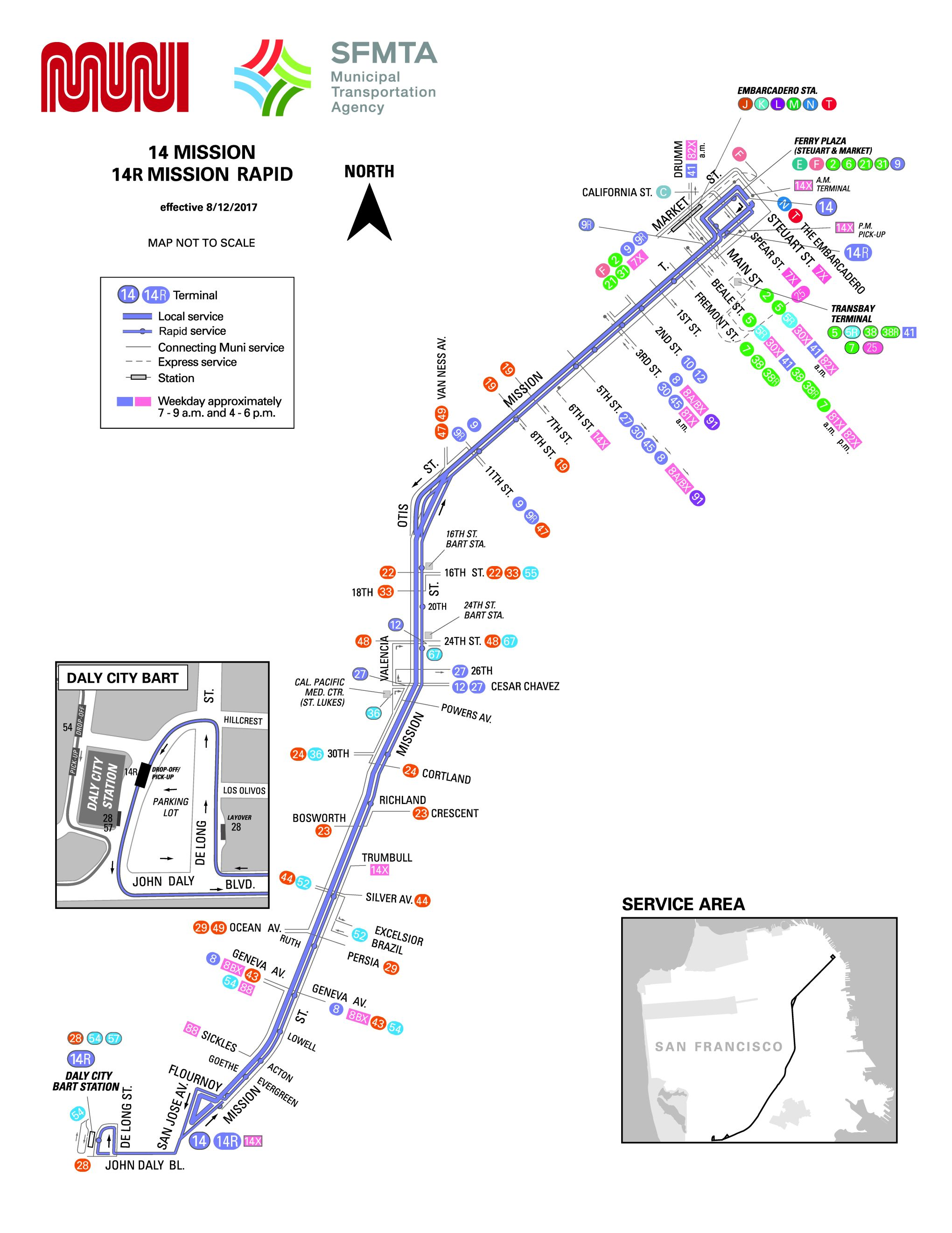 14-Mission Bus Route - SF MUNI - SF Bay Transit