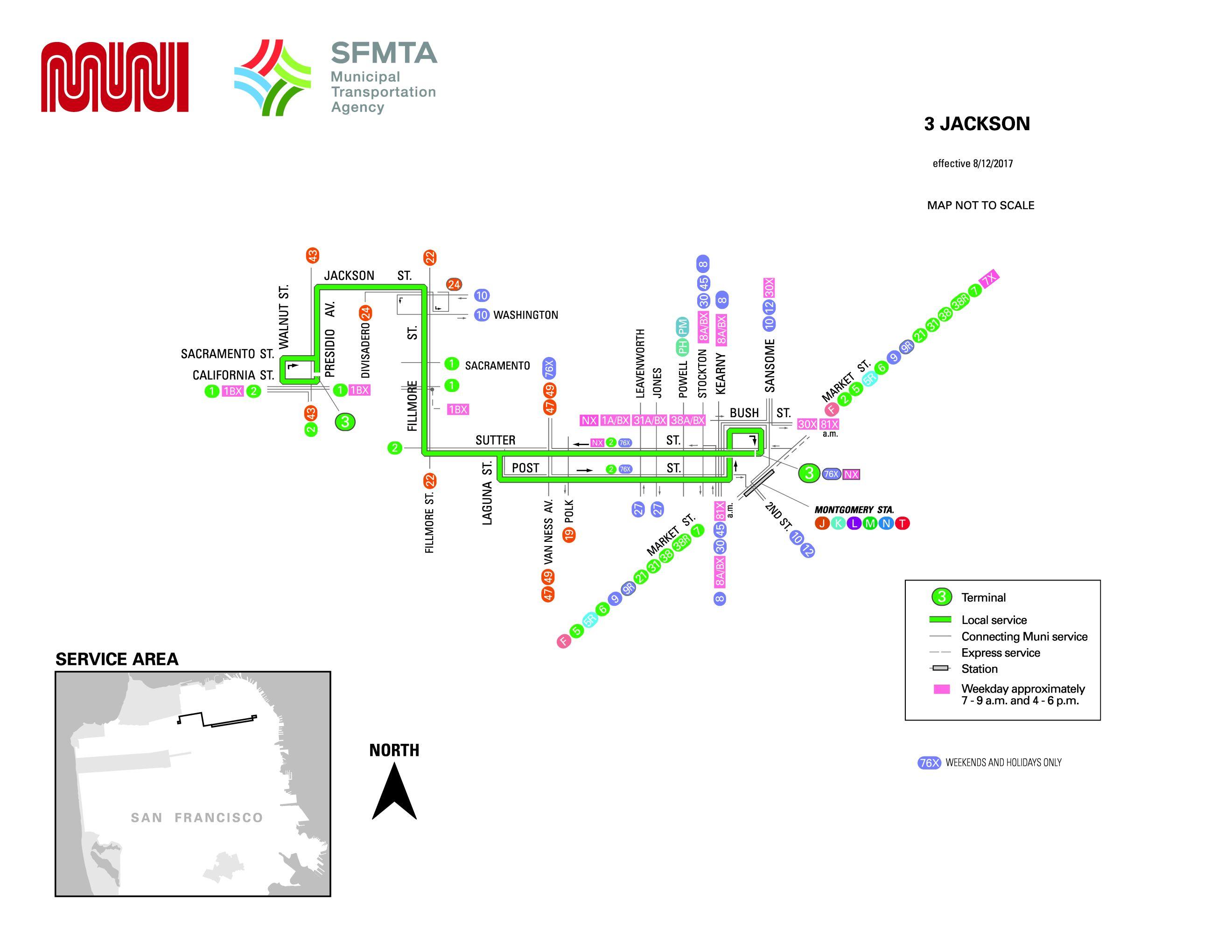 3 Jackson Bus Route Sf Muni Sf Bay Transit