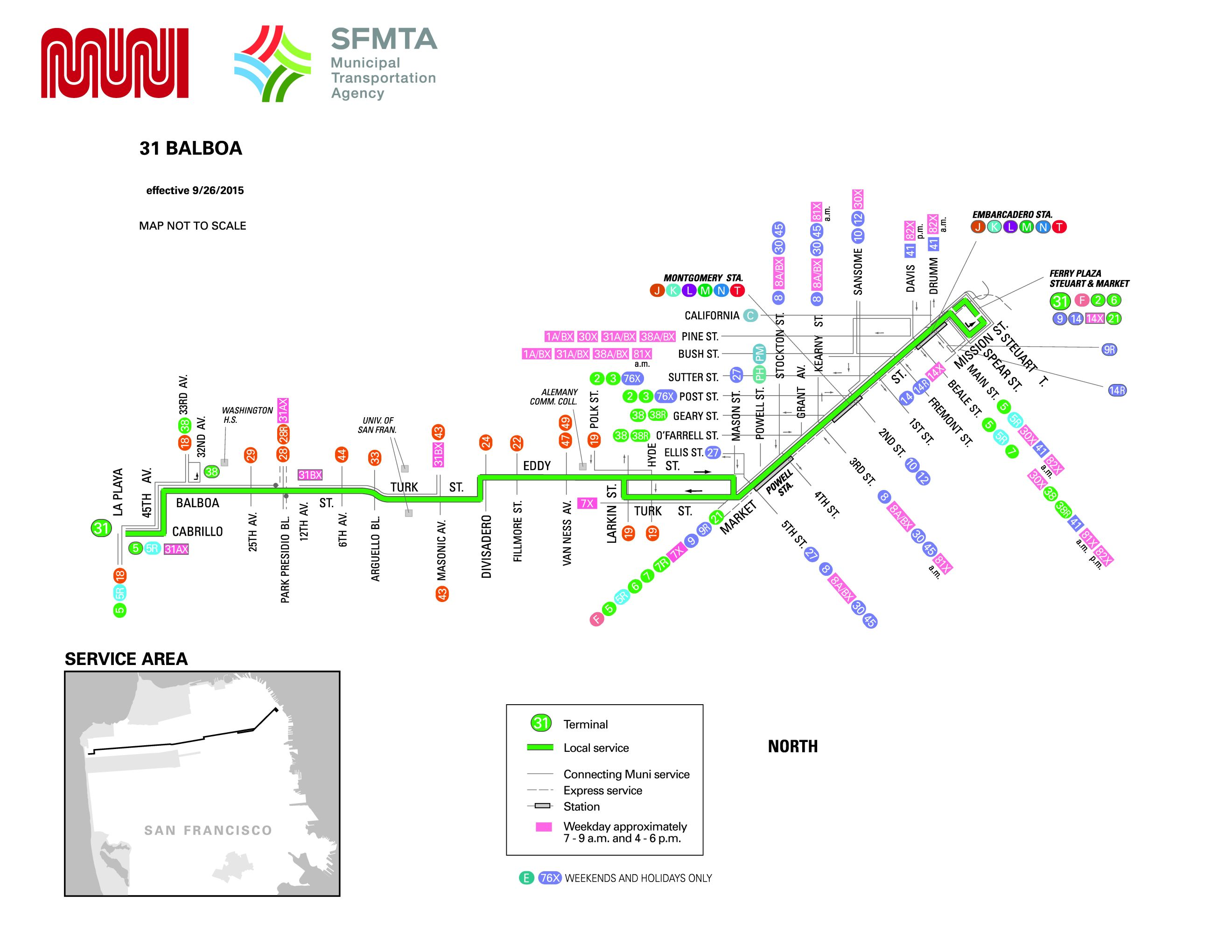 sf bus schedule san francisco